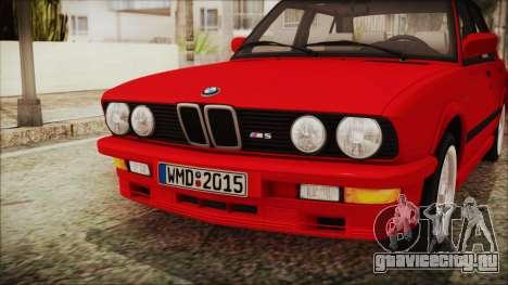 BMW M5 E28 1988 для GTA San Andreas вид сзади