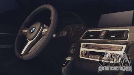 BMW M3 F30 SEDAN для GTA San Andreas вид сзади слева