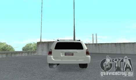 Toyota 4runner 2008 semi-off_road LED для GTA San Andreas вид справа
