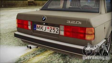 BMW 320i E21 1985 LT Plate для GTA San Andreas вид сзади