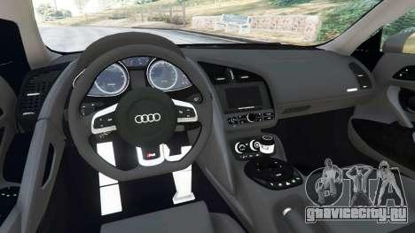 Audi R8 Quattro для GTA 5 вид справа