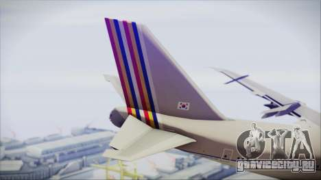 Boeing 747-48E Asiana Airlines для GTA San Andreas вид сзади слева