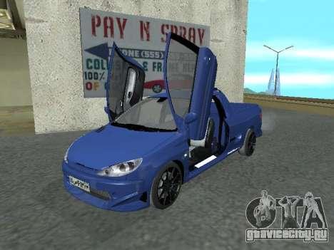 Pegeout 206 PickUP для GTA San Andreas