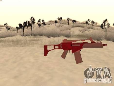 G36c Новогодний камуфляж для GTA San Andreas третий скриншот