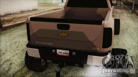 Chevrolet Silverado Triple Door для GTA San Andreas вид сзади