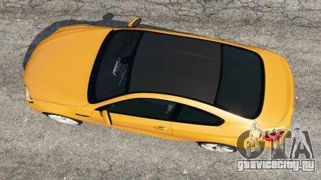 BMW M6 2013 для GTA 5 вид сзади