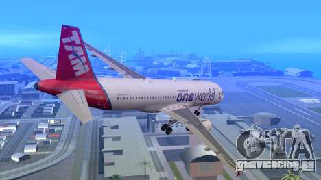 Airbus A320-200 TAM Airlines Oneworld для GTA San Andreas вид слева