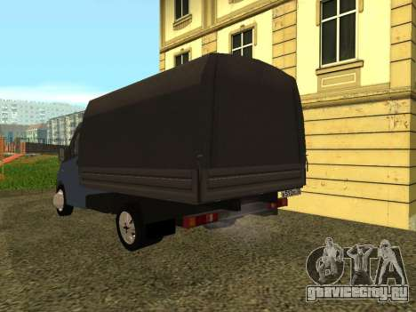 ГАЗель Next для GTA San Andreas вид сзади слева