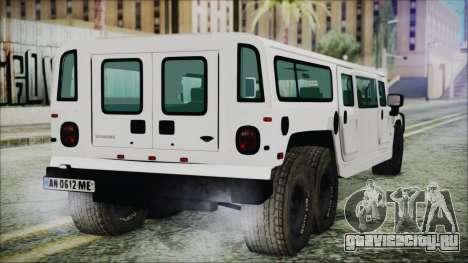 Hummer H1 Limo 6x6 для GTA San Andreas вид слева
