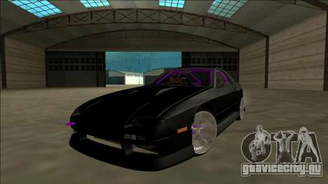 Mazda RX-7 FC Drift для GTA San Andreas вид изнутри