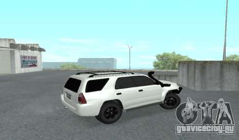Toyota 4runner 2008 semi-off_road LED для GTA San Andreas вид сзади слева