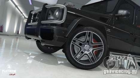 Mercedes-Benz G63 AMG v1 для GTA 5 вид сзади справа