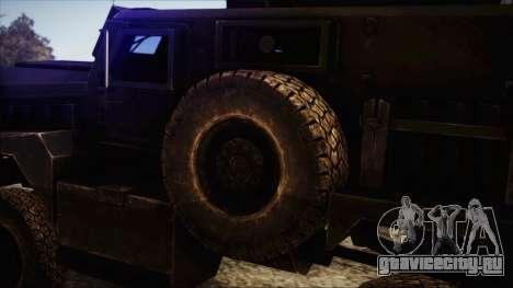 Cougar MRAP 4x4 для GTA San Andreas вид сзади слева