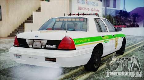 Ford Crown Victoria Miami Dade v2.0 для GTA San Andreas вид слева