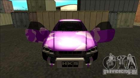 Nissan Skyline R34 Drift для GTA San Andreas салон