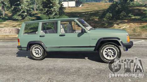 Jeep Cherokee XJ 1984 [Beta] для GTA 5 вид слева