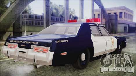 Dodge Monaco 1974 LSPD General Duties Unit для GTA San Andreas вид слева
