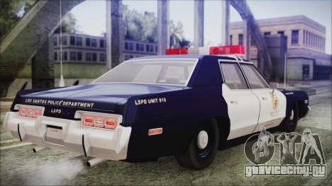 Dodge Monaco 1974 LSPD General Duties Unit для GTA San Andreas вид слева
