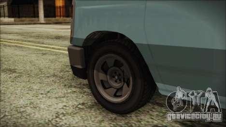 GTA 5 Bravado Rumpo для GTA San Andreas вид сзади слева