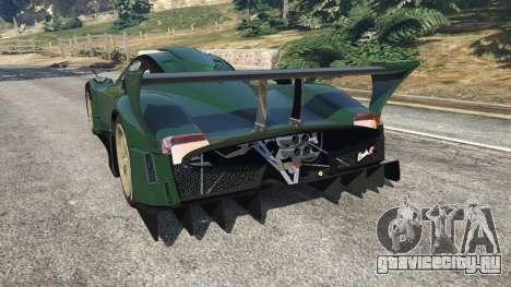 Pagani Zonda R v0.91 для GTA 5 вид сзади слева