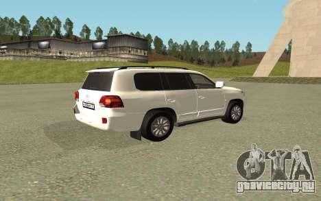 Toyota Land Cruiser 200 Bulkin Edition для GTA San Andreas вид слева