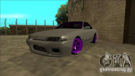 Nissan Skyline R32 Drift для GTA San Andreas вид изнутри