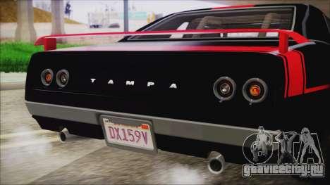 GTA 5 Declasse Tampa IVF для GTA San Andreas вид сверху