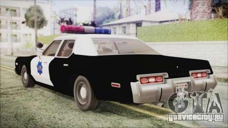 Dodge Monaco 1974 SFPD IVF для GTA San Andreas вид слева