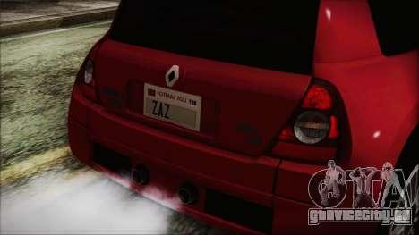 Renault Clio v6 Tunable для GTA San Andreas вид справа
