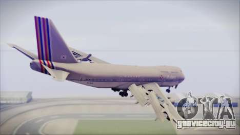 Boeing 747-48E Asiana Airlines для GTA San Andreas вид слева