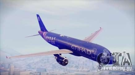 Airbus A320-200 Etihad Airways Abu Dhabi Grand для GTA San Andreas