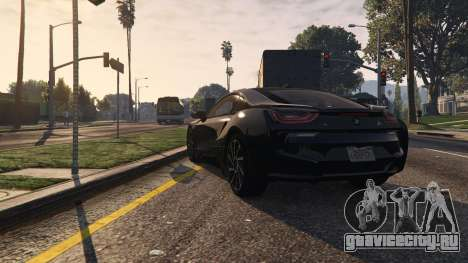 2015 BMW I8 для GTA 5 вид сзади