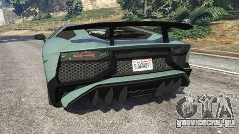 Lamborghini Aventador Super Veloce v0.2 для GTA 5 вид сзади слева