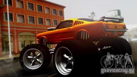 Ford Mustang 1966 Chrome Edition v2 Monster для GTA San Andreas вид слева
