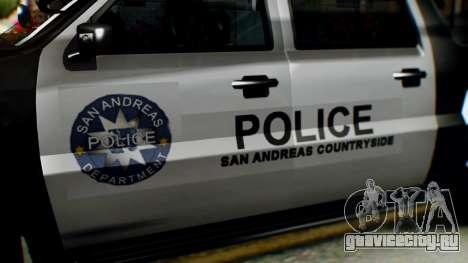 GTA 5 Police Ranger для GTA San Andreas вид справа