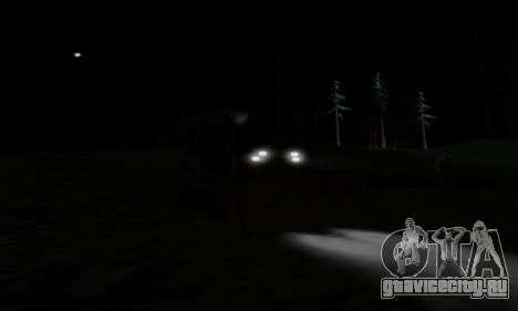 New Dozer для GTA San Andreas вид изнутри