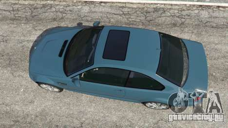 BMW M3 (E46) 2005 для GTA 5 вид сзади