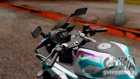 Yamaha R25 2015 EV Mirai Miku Racing 2013 для GTA San Andreas вид сзади