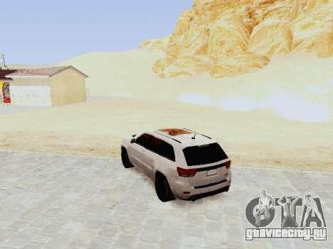 Jeep Grand Cherokee SRT8 2013 Tuning для GTA San Andreas вид сзади слева