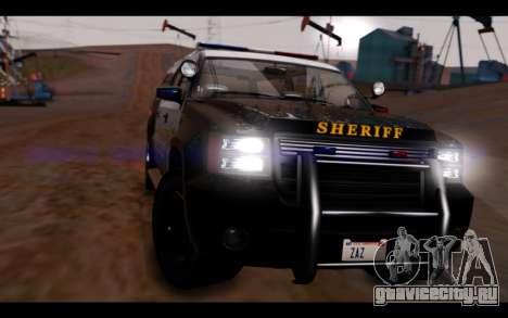 GTA 5 Declasse Sheriff Granger IVF для GTA San Andreas вид справа
