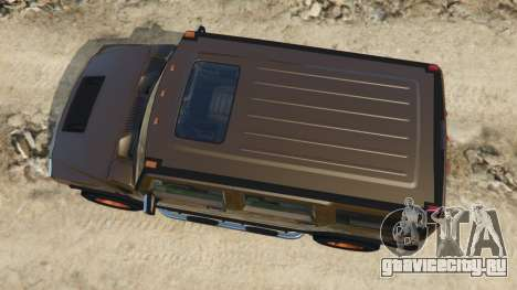 Hummer H2 2005 [tinted] для GTA 5 вид сзади