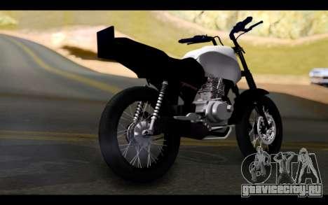 Honda CG Titan 150 Stunt Imitacion для GTA San Andreas вид слева