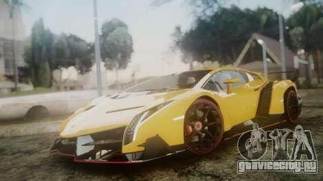 Lamborghini Veneno 2012 для GTA San Andreas вид сзади слева