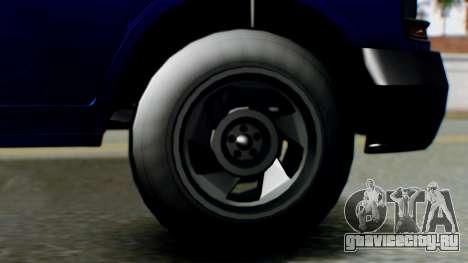 GTA 5 Vapid Speedo для GTA San Andreas вид сзади слева