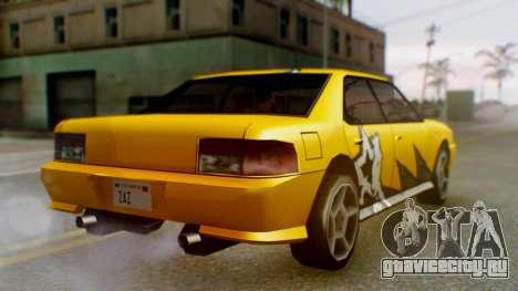 Sultan Винил из Need For Speed ProStreet для GTA San Andreas вид сзади слева