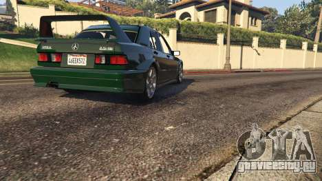 Mercedes-Benz 190E Evolution v1.1 для GTA 5 вид сзади