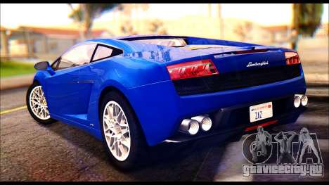 Lamborghini Gallardo LP560 для GTA San Andreas вид слева