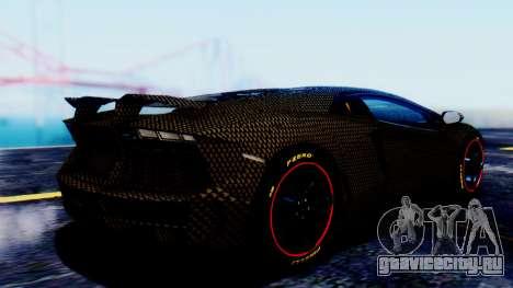 Lamborghini Aventador Mansory Carbonado для GTA San Andreas вид слева