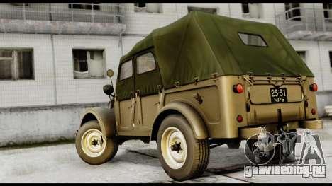 ГАЗ-69А IVF для GTA San Andreas вид слева