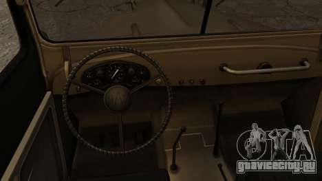 ГАЗ-69А IVF для GTA San Andreas вид сзади слева